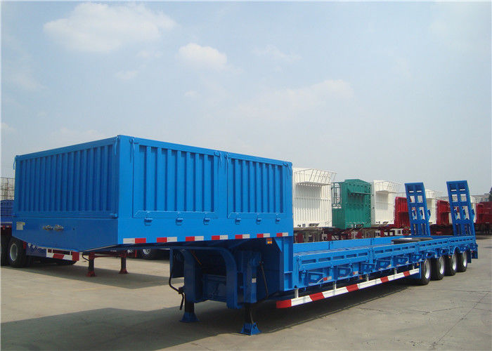 Multi - Axle 80T Extendable Semi Trailer With Dual Line Braking System