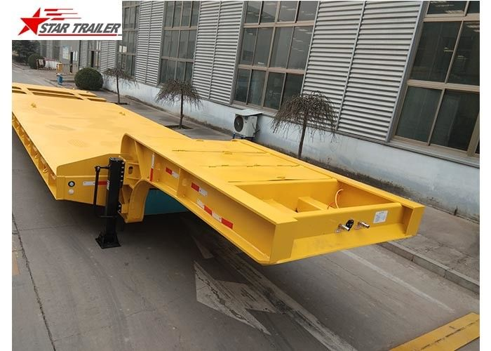 Durable Construction Lowboy Drop Deck Trailer, 2 Axles 60 Ton Lowboy Trailer